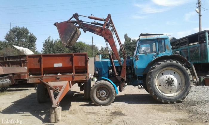 мтз.  Продаю трактор Мтз 80 с Куном + Прицеп Навоза - Разбрасыватель.6-тонни  в Бишкек