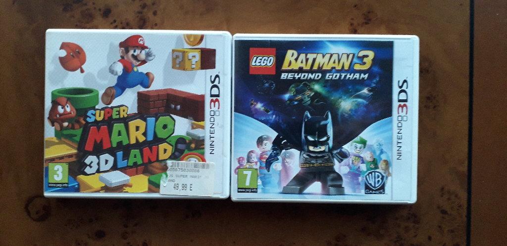 5 Video Games Nintendo: a) Mario & Sonic London 3 DS, b) Nickelodeon Spongebob Planktons γ) Robotic Revenge 3 DS, G- Force DS, δ) Lego Batman3 3 DS, ε) Super Mario 3 d Land 3 DS