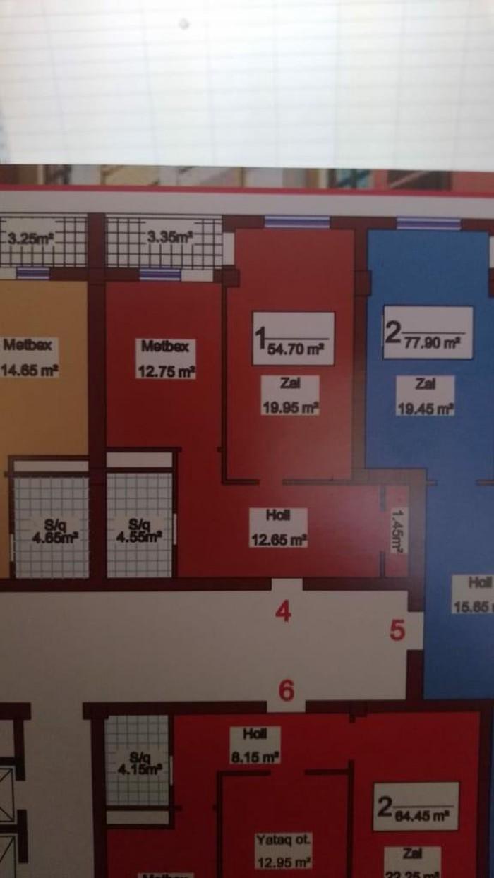 Mənzil satılır: 2 otaqlı, 64 kv. m., Bakı. Photo 2