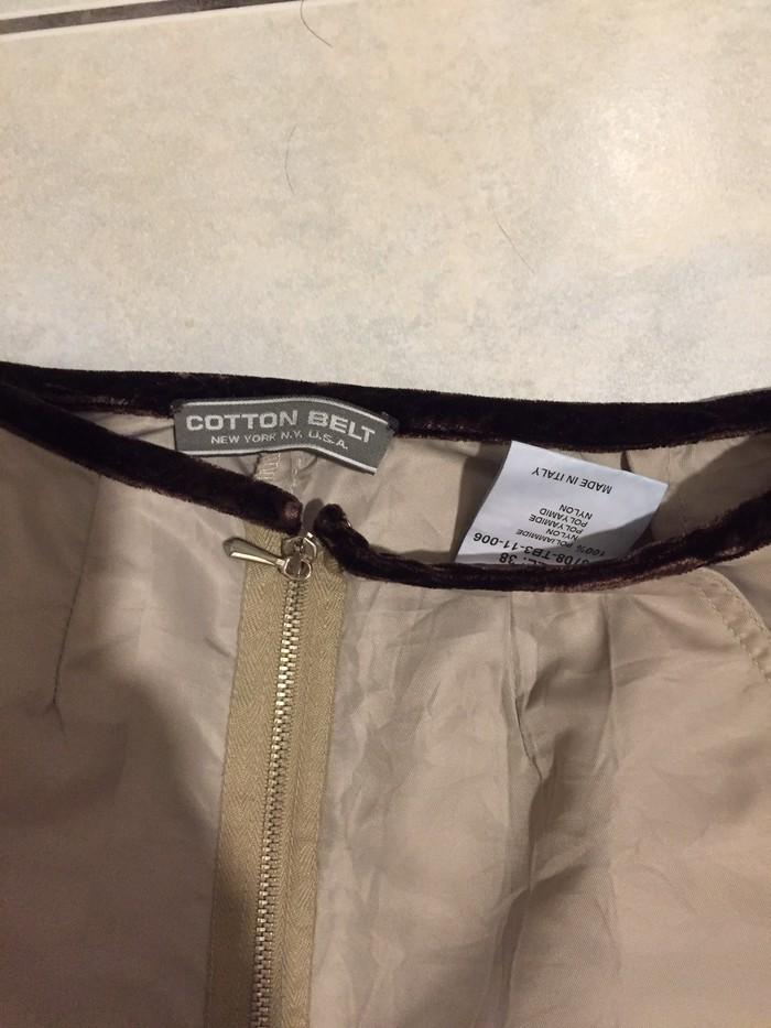 Παντελόνι από σατίν ύφασμα με σούρα στα γόνατα . Ολοκαινουργιο . Νο S . Photo 1
