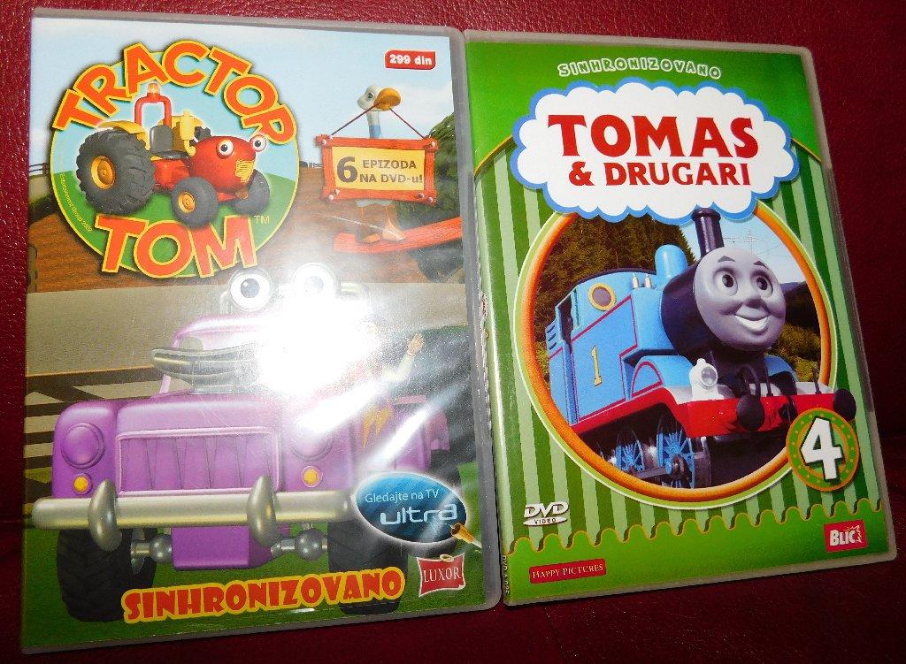 Knjige, časopisi, CD i DVD - Beograd: Dvd crtaci Traktor Tom i Tomas i Drugari