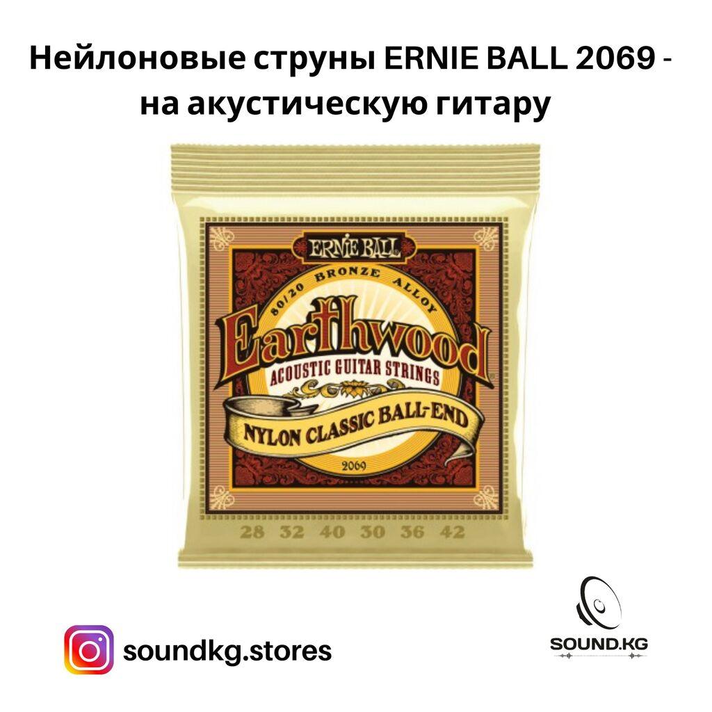 Струны нейлоновые на акустическую гитару - Ernie Ball 2069 - в наличии