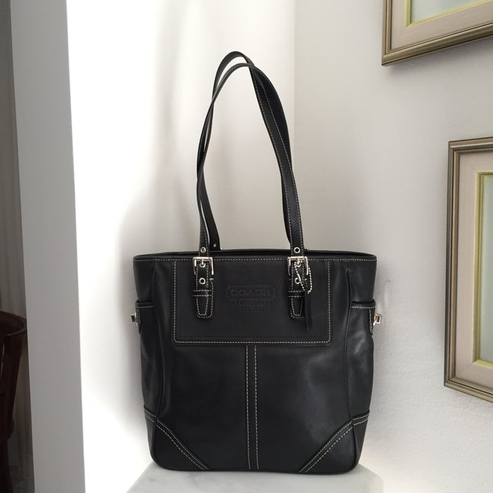 Coach New York Legacy μαύρη, δερμάτινη τσάντα. Photo 1