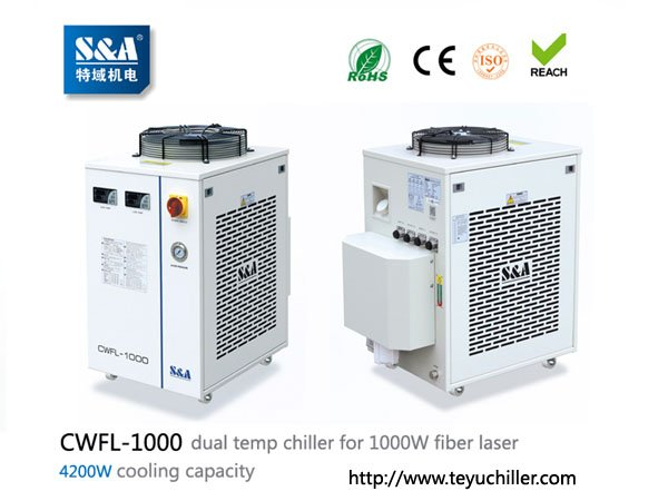 S&A chiller CWFL-1000 for cooling 1000W fiber laser cutting & in Kathmandu