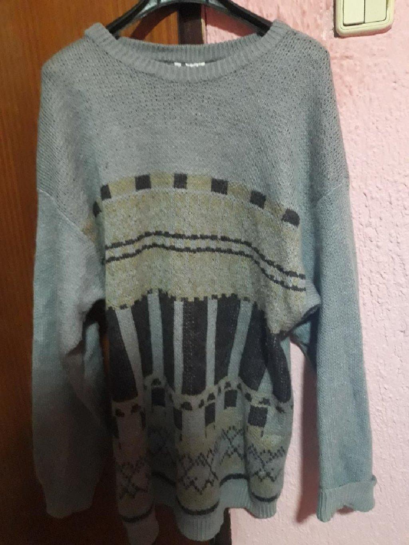 Prelep vuneni sivi džemper tunika. XXL velicine