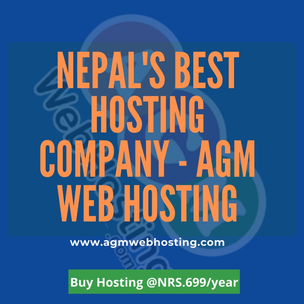 Nepal's Best Hosting Company - AGM Web Hosting