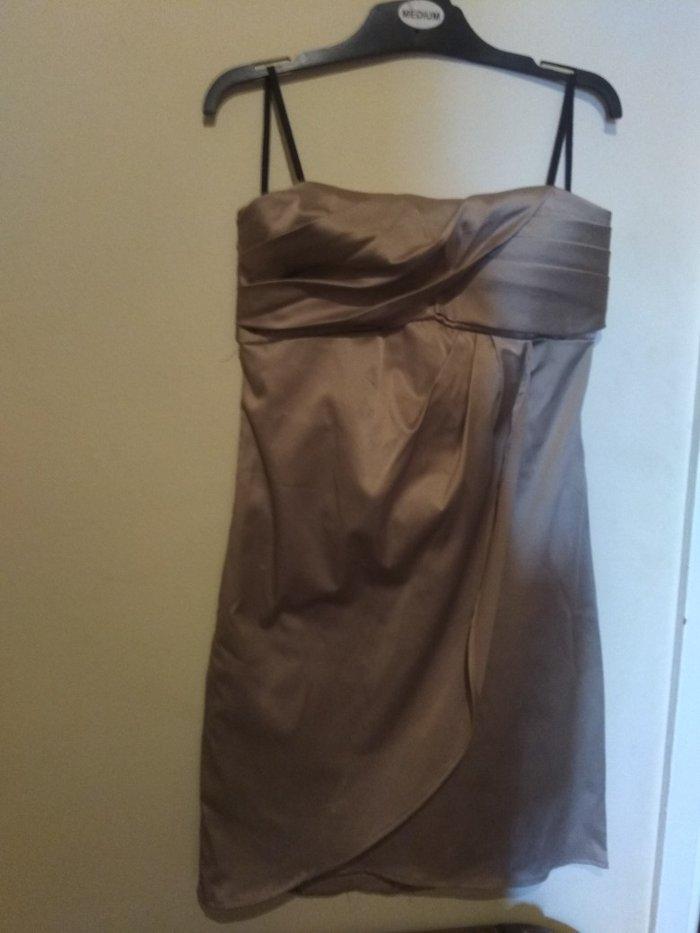 Φόρεμα  zara σατέν στραπλες σε χρώμα. Photo 0