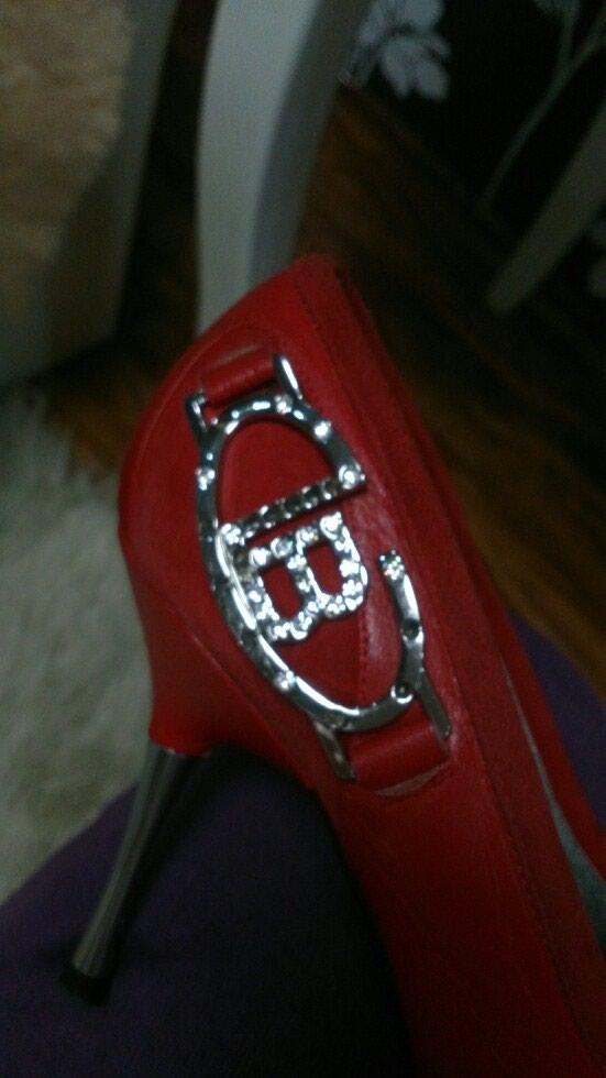 Туфли Laura Biagotti кожаные с замшевые вставками. Photo 4