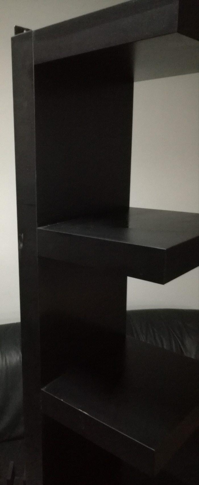 Πωλείται μαύρο ξύλινο έπιπλο διακόσμησης, με 7 ράφια!. Photo 1