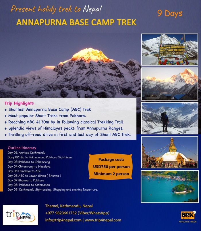 Annapura Base Camp Trek www.trip4nepal.com in Kathmandu