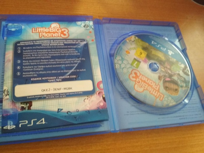 Little Big Planet 3.  PS4 σε τελεια κατάσταση χωρίς γρατσουνιές. Photo 1