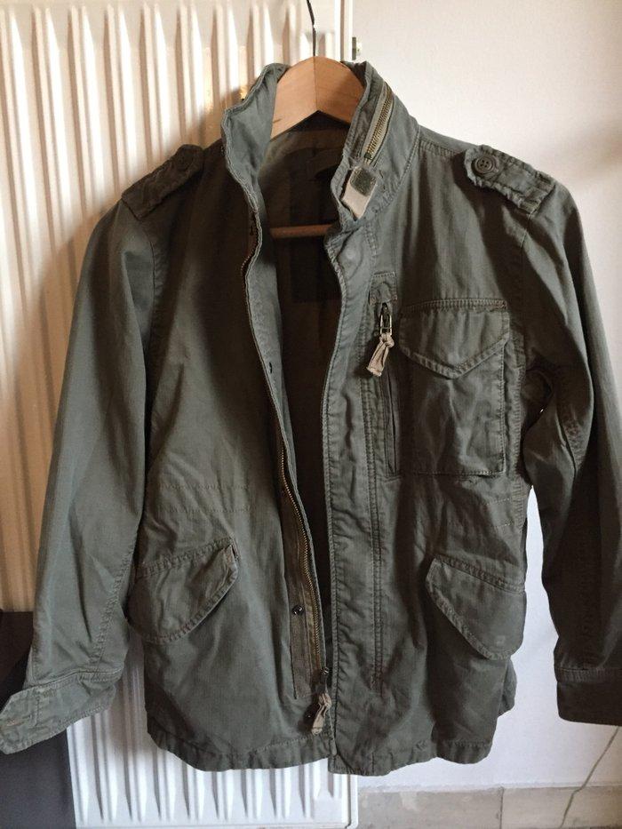 Gap παιδικό jacket ,χακί με ενσωματομένη κουκούλα Νο ηλικια , 12-14