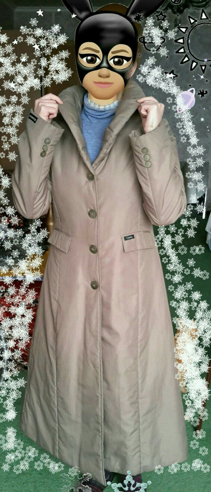 девчонки, модницы, продаю стильное пуховик- пальто, на синтепоне, коре в Бишкек