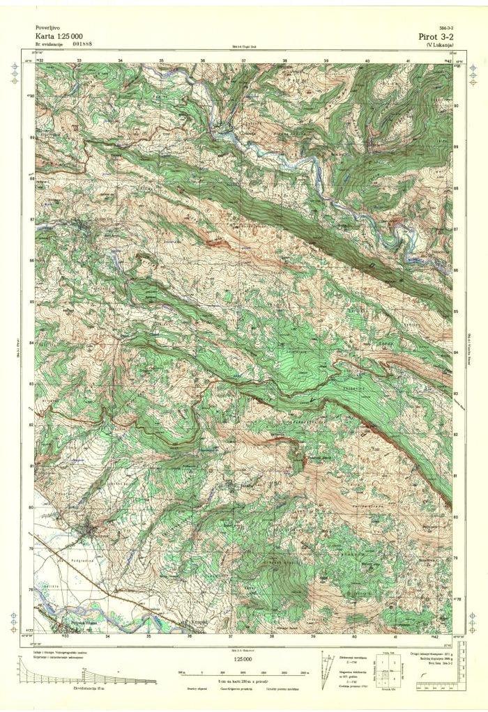 Digitalizovane Topografske Karte Srbije U Razmeri 1 25000idealne