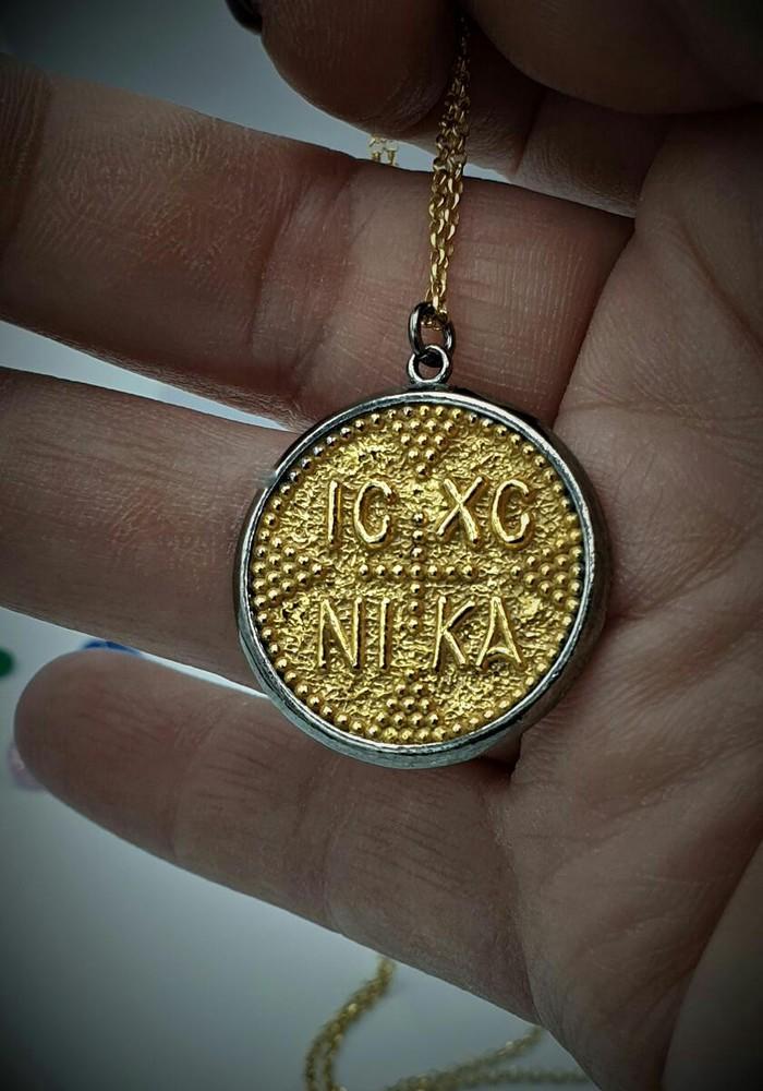Καθαρο χρυσο κωσταντινατο φυκαχτο Κ8 με αλυσιδα .... Photo 0