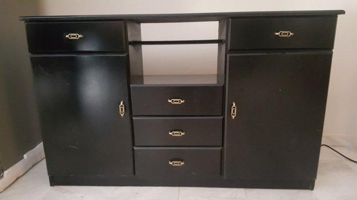 Μικρός μαύρος μπουφές !! Πέντε συρτάρια και δυο ντουλαπάκια!. Photo 0