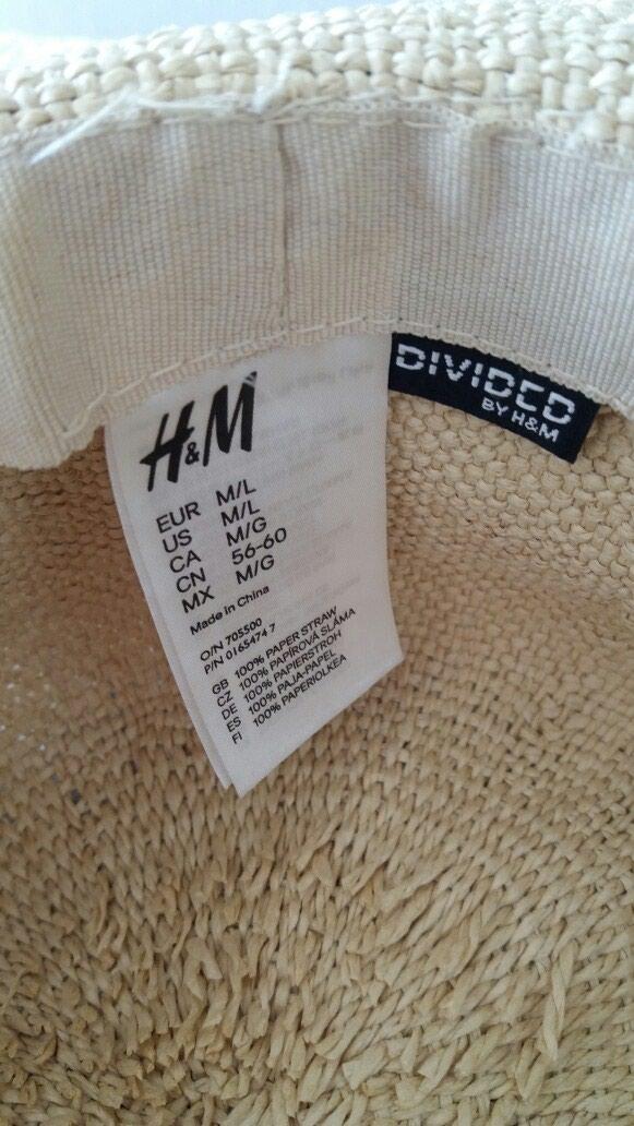 H&M slameni sesir za plazu, nov, nikada nosen. Photo 3
