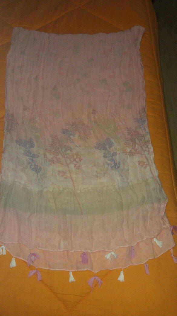 Πασμινα βαμβακερη φορεμενη μια φορα σε αριστη κατασταση. αποστολη με π. Photo 2