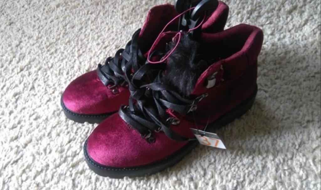 Nove sa etiketom cizme cipele zimske u bordo crvenoj boji