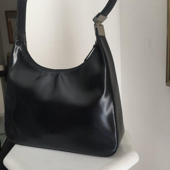 Καλογήρου μαύρη δερμάτινη τσάντα ώμου. Photo 6