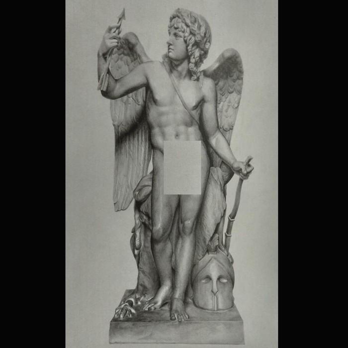 """Άγαλμα σχέδιο σε χαρτί """" Έρωτας Νικητής """""""