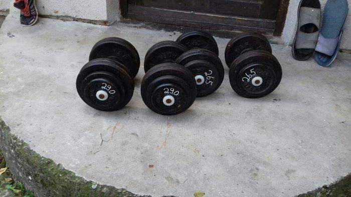 Tegovi ,bučice štelujuce 2×26kg i 2×29,5kg prodajem u paru ili sve 4 c - Pozega