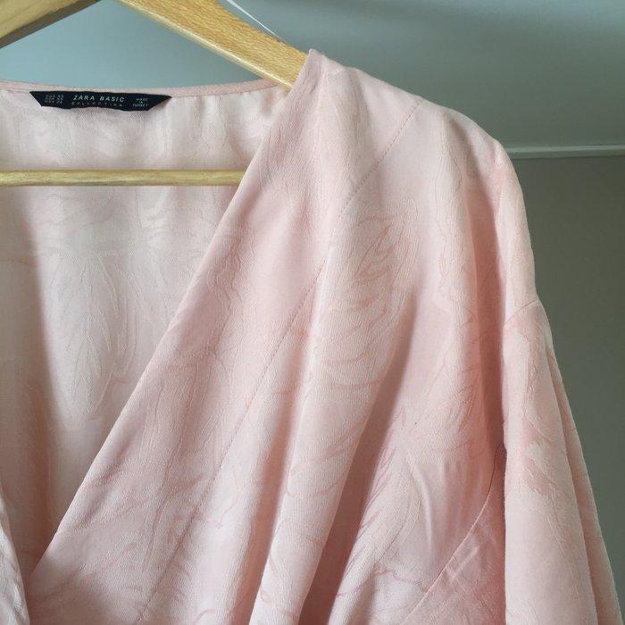 Zara Woman ροζ παλ κιμονο-μπλούζα με. Photo 3