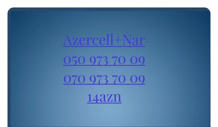 Azercell Nar 0509737009 Yeni nomre Unvan Xirdalan seheri. Photo 0