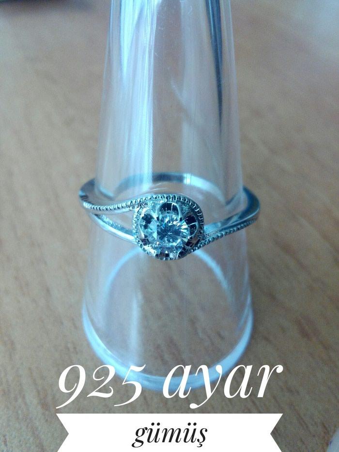 925 əyarlı gümüş üzük.yenidi.. Photo 0