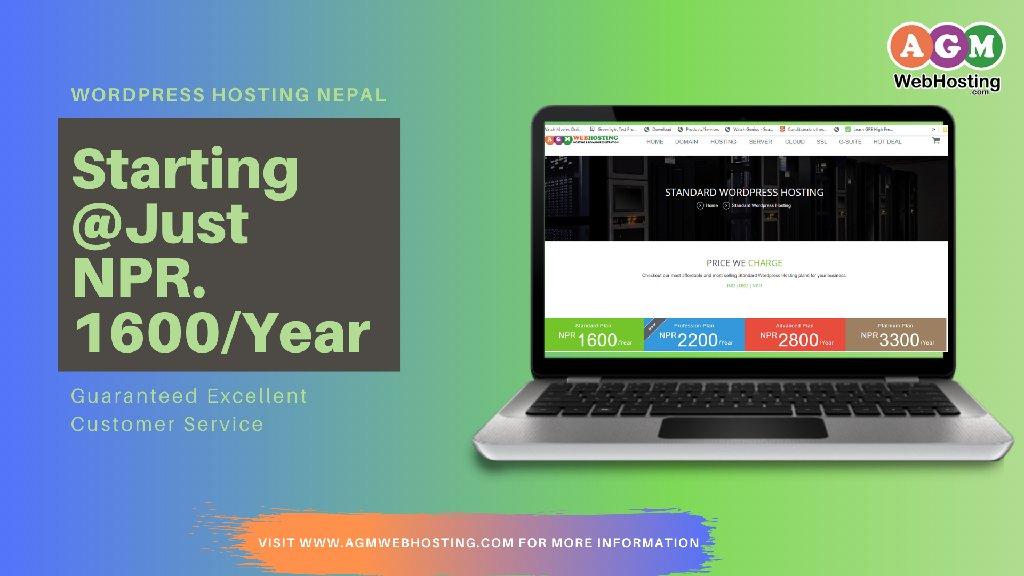 Cheap WordPress Hosting in Nepal - AGM Web Hosting