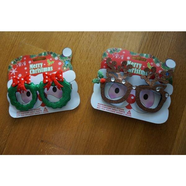 2 χριστουγεννιατικα γυαλια ολοκαινουργια . Photo 0
