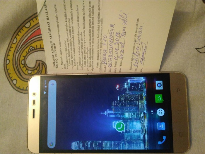 Hisense f 10 telefon satiram 12 ay iwlenmiw qiymet 70. Photo 0