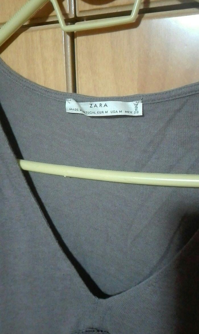 Zara μπλούζα βολαν καφε medium. Photo 1
