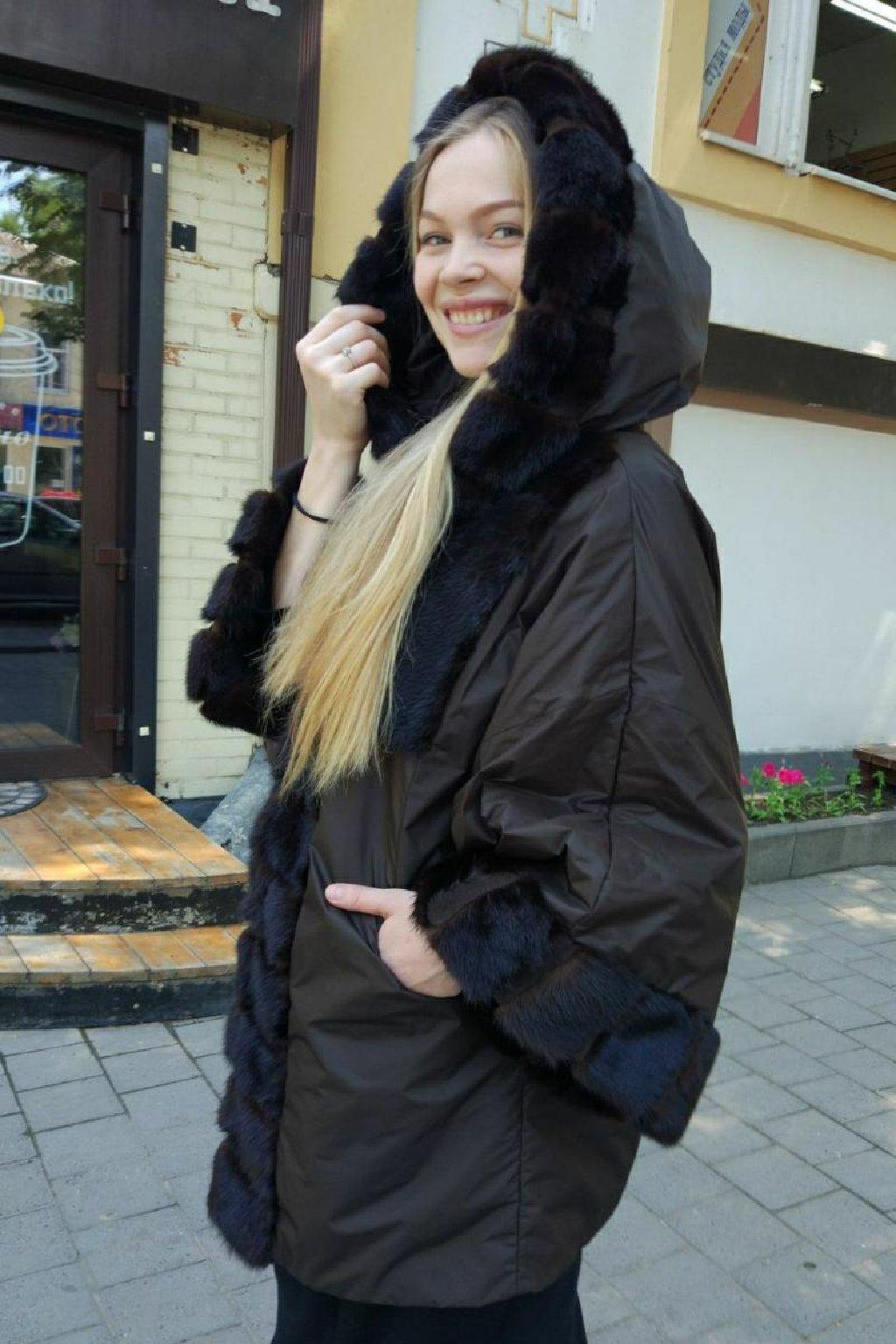 Женские куртки с натуральным мехом