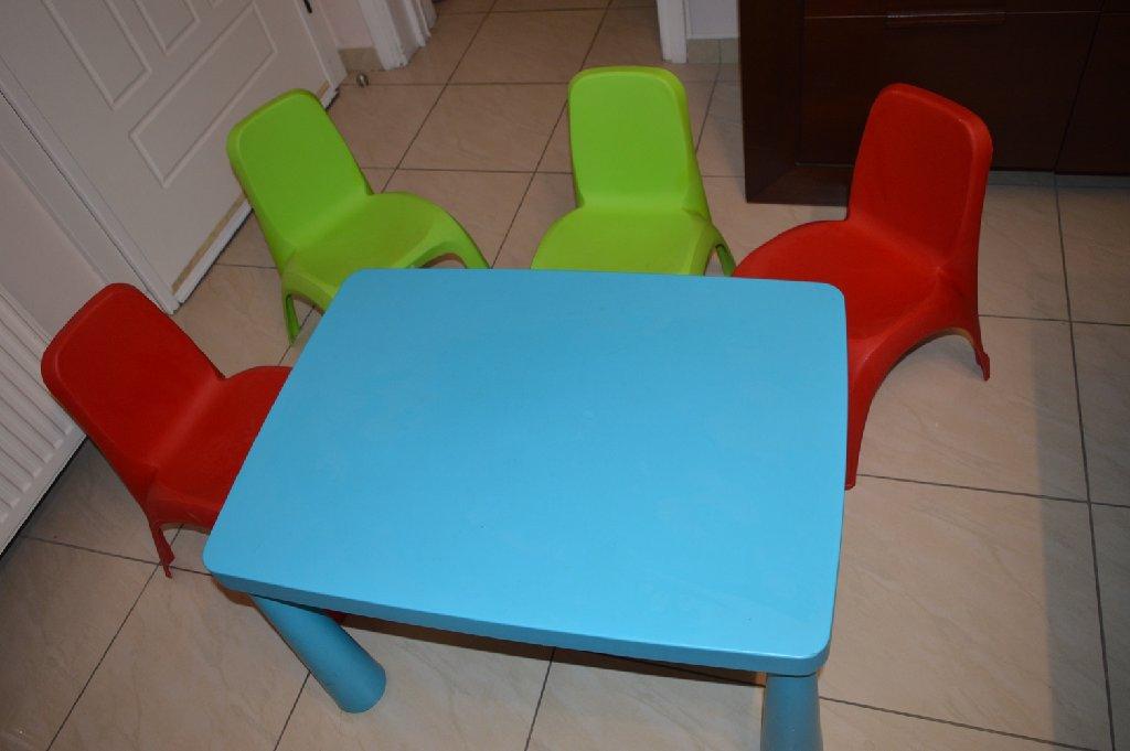 ΣΕΤ παιδικό τραπέζι με 4 καρέκλες τύπου JUMBO και τραπέζι MAMMUT ΙΚΕΑ