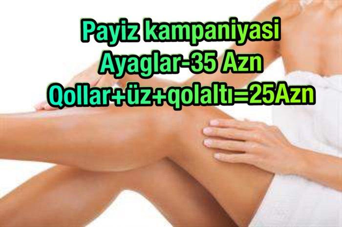 Bakı şəhərində Elmler m/st lazer epilyasiya.