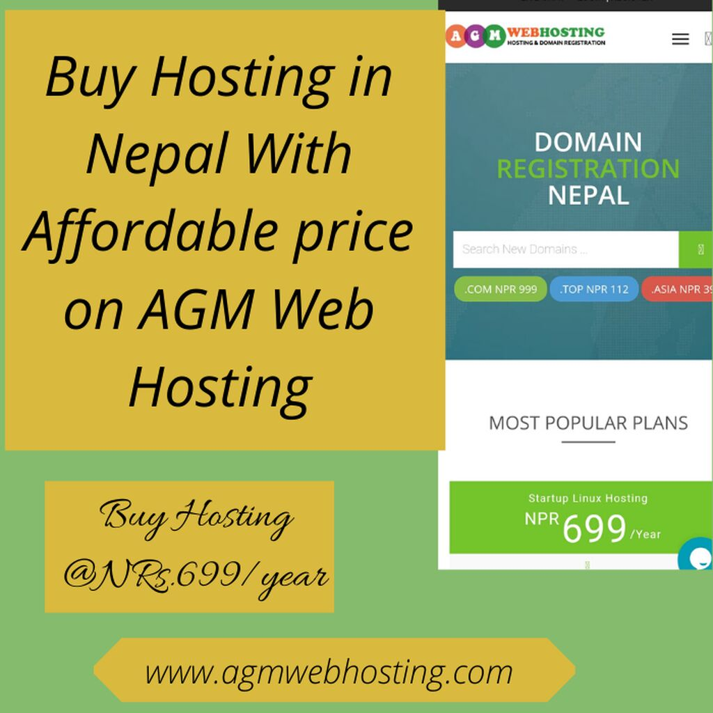 Buy Hosting in Nepal With Affordable price on AGM Web Hosting