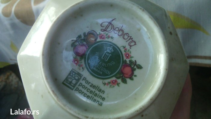 Prelep set šoljice, posuda za mlekooo (može biti i čajnik)  - Cuprija