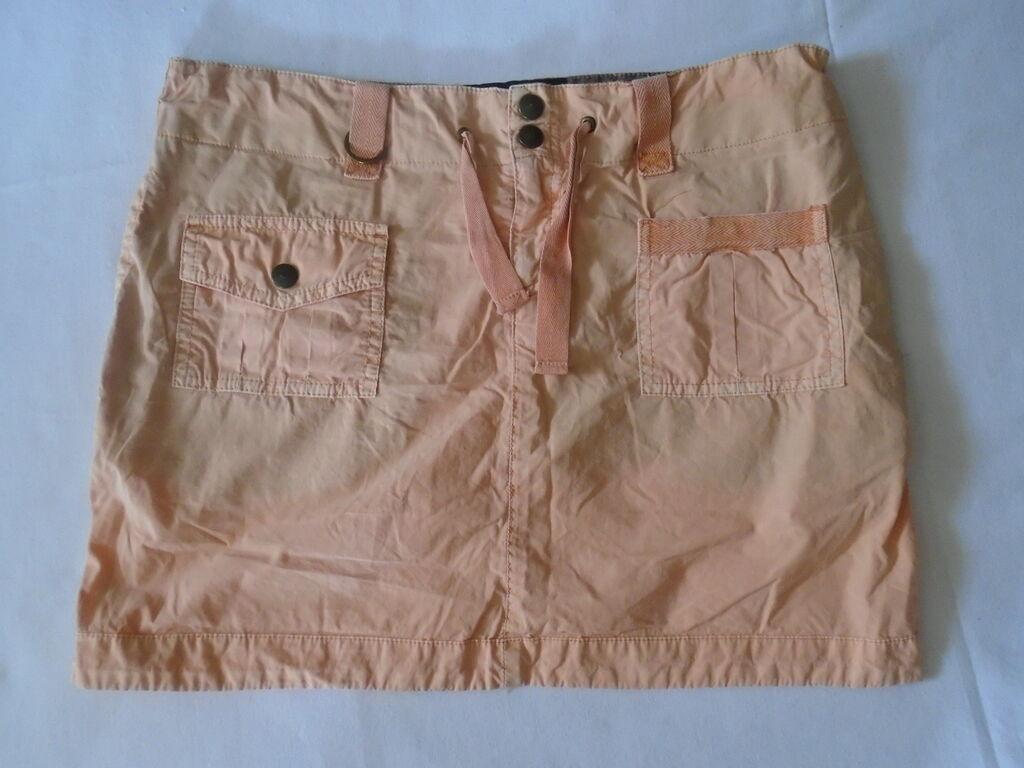 Moderna i zanimljiva Jo Kang (limited edition) mini suknjica od kao ispranog materijala, kajsija boje