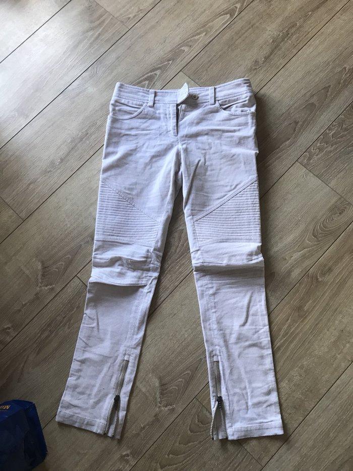 Pantalone ermano scervino , somot bele - zenske br 38 ital. Obucene - Beograd