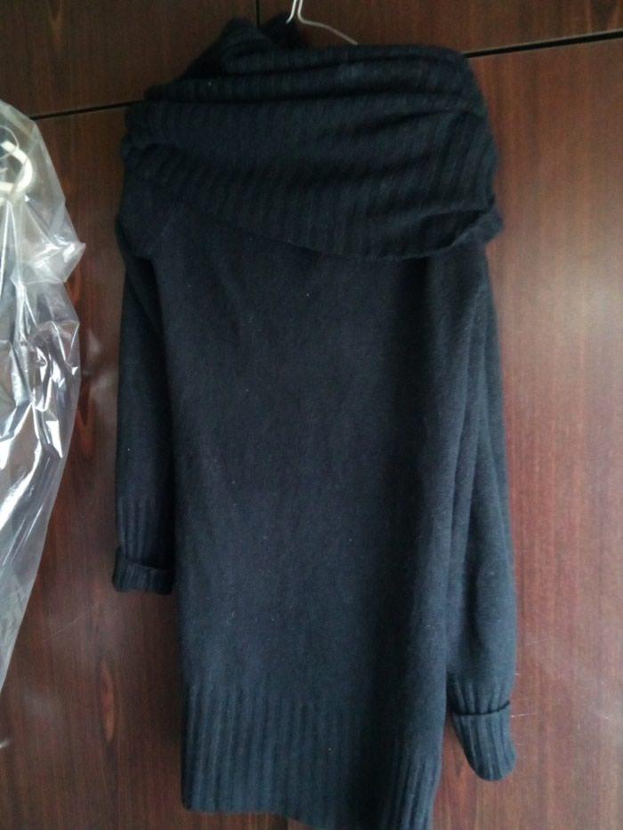 Μαύρο ζεστό μάλλινο φόρεμα no 2 σε Σκύδρα
