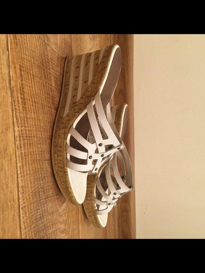 54cb81510214 Продаю белые кожаные тапочки (Германия). размер 41.. Photo 0