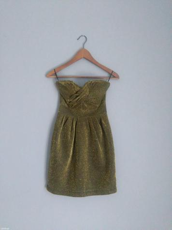 H+m! Εντυπωσιακο χρυσομαυρο φορεμα στραπλες απο τα Η&Μ