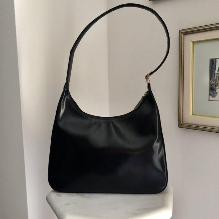 Καλογήρου μαύρη δερμάτινη τσάντα ώμου. Photo 0