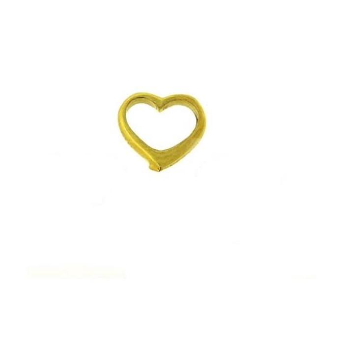 Κρεμαστό ''Καρδιά'' από ασήμι 925°, επίχρυσο (10mm)  Κωδικός: .100. Photo 0
