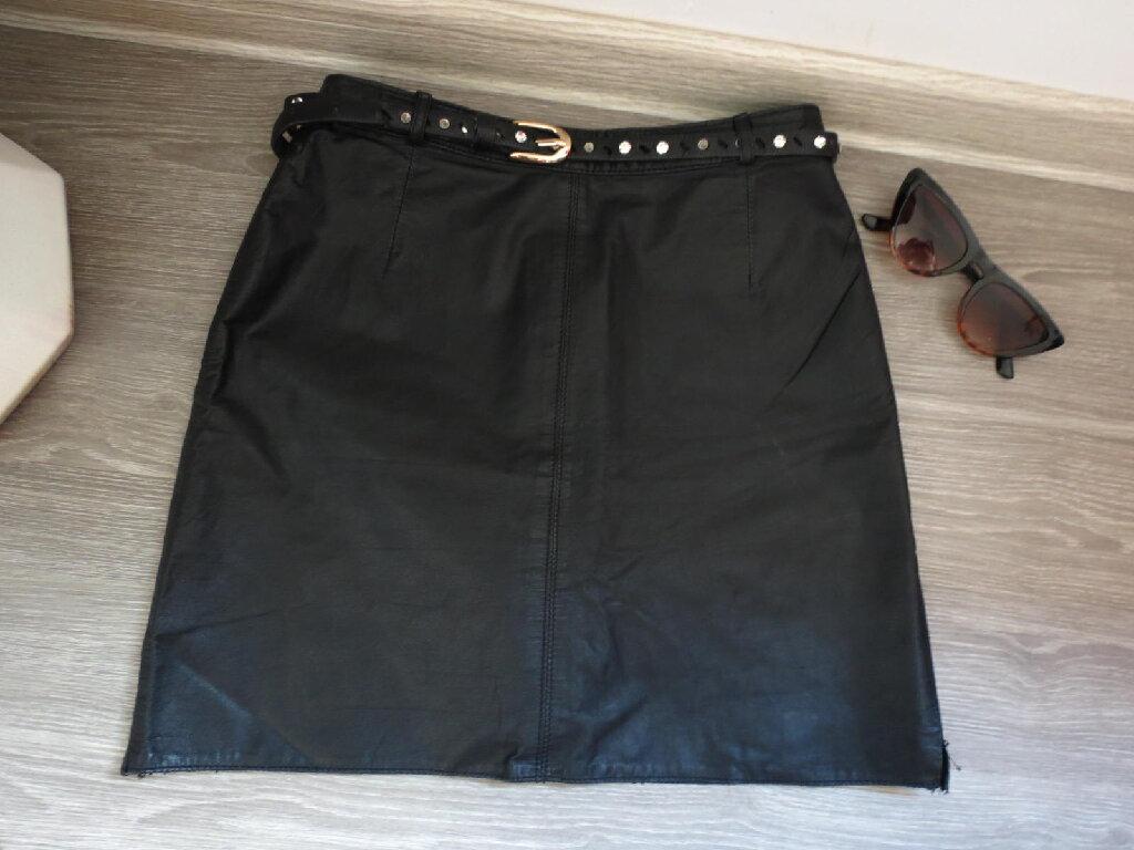 Mini-suknja kozna 34 vel