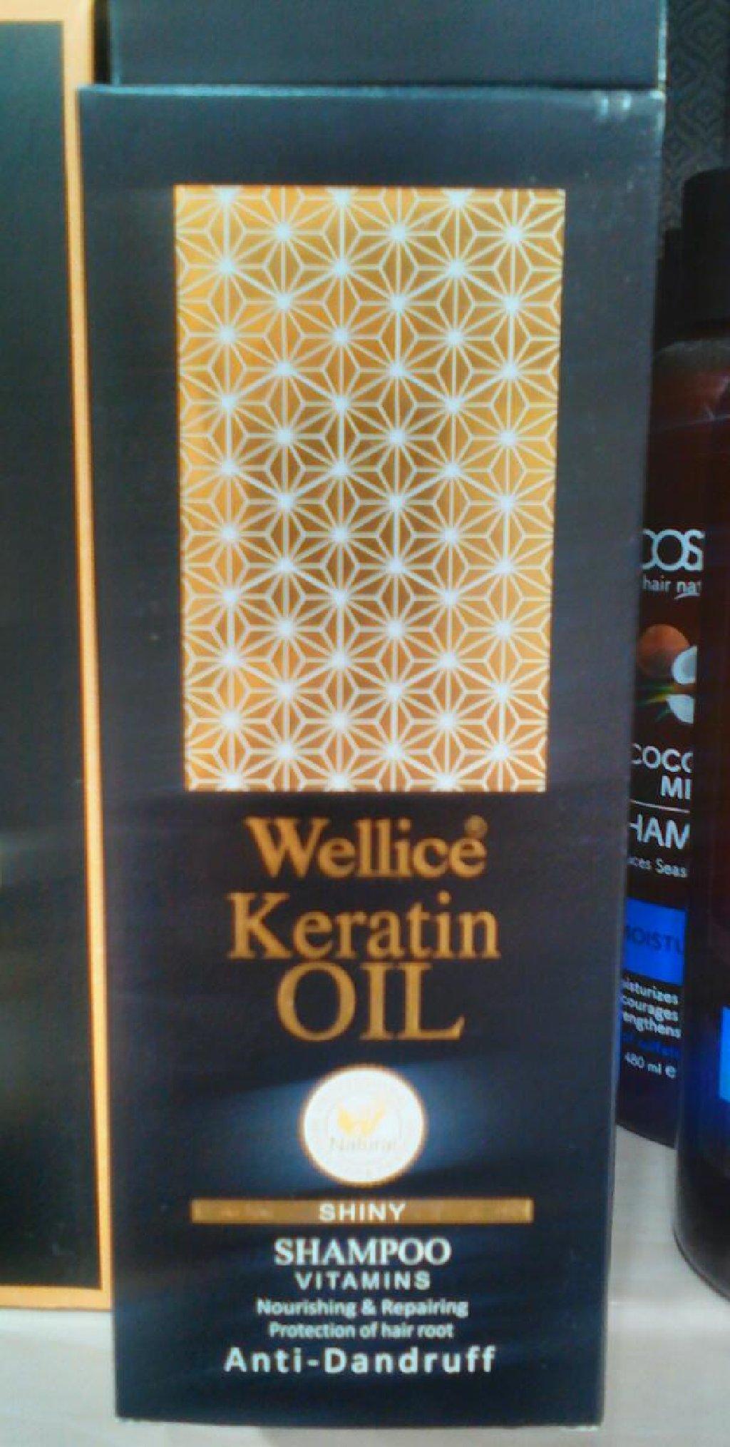 Sampun keratin terkibli, 520 ml, firma wellice