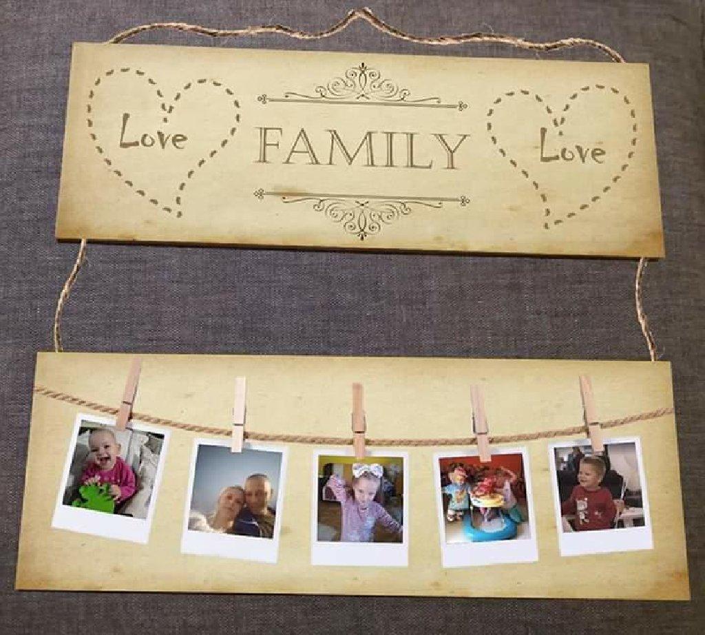 Porodicni okvir, posaljete mi pet fotografija, radi se na medijapanu