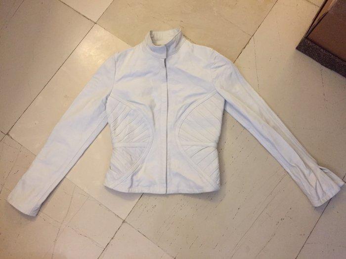 Λευκό δερμάτινο γυναικείο jacket . Ολοκαίνουργιο αφόρετο .Νο small