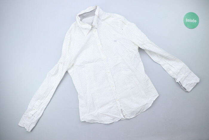 Жіноча сорочка у горошок, p. XS   Довжина: 59 см Ширина плечей: 39 см | Объявление создано 01 Август 2021 17:37:14: Жіноча сорочка у горошок, p. XS   Довжина: 59 см Ширина плечей: 39 см